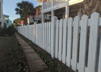 Pointed-White-Picket-Fence