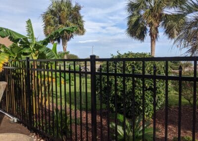 Black Ornamental Aluminum Fence